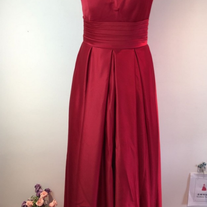 Red Satin Beaded Embellished High H..