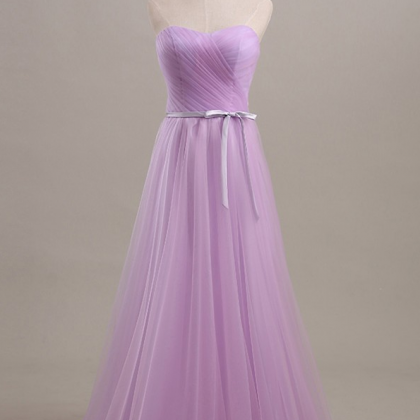 Lilac Strapless Long Evening Dress..