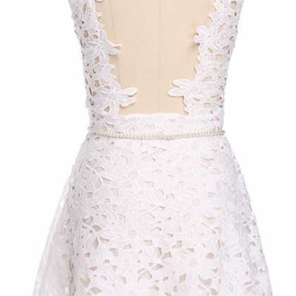 Lace Homecoming Dresses,Short Slee..