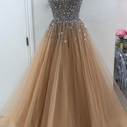 Sweetheart A line Beaded Tulle Long..