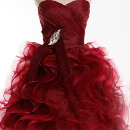 Homecoming Dress,Wine Red Homecomi..