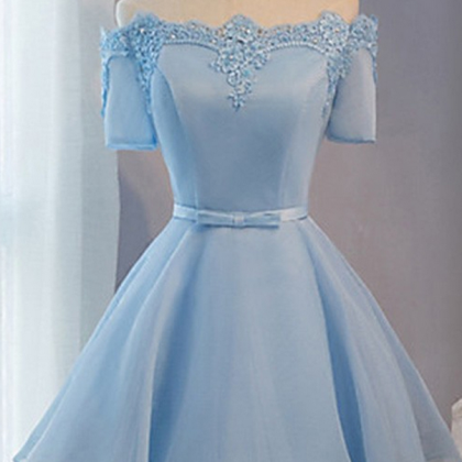 Short Prom Dresses, Baby Blue Prom ..