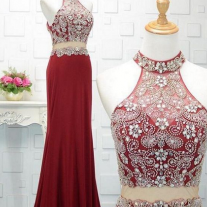 Charming Prom Dress, Sexy Two Piece..