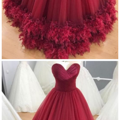 Sweetheart burgundy tulle long form..