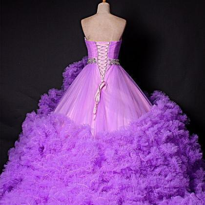 Colorful Winter Luxury Wedding Dres..