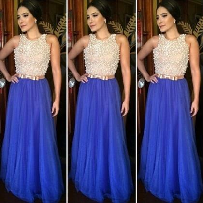 Tulle Prom Dresses,Royal Blue Prom ..
