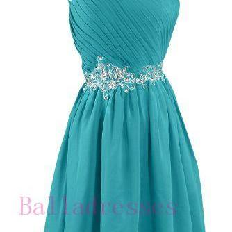 One Shoulder Homecoming Dress,Homec..
