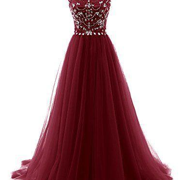 Burgundy Prom Dresses,Wine Red Even..