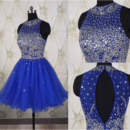 Beaded Prom Dress,Royal Blue Prom D..