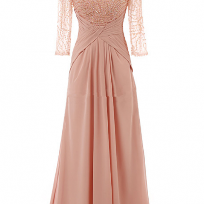 Scoop Sheer Beaded Chiffon A-line F..