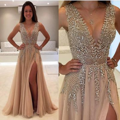 Beaded Prom Dress,Fashion Prom Dress,Sexy Party Dress,Custom Made Evening Dress