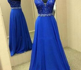 Long Prom Dress, Bla..