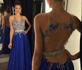 Prom Dress,Halter Pr..