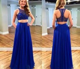 Royal Blue Beading L..