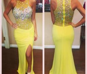 Yellow Prom Dresses,..