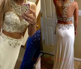 2 Piece Prom Gown,Tw..