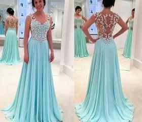 Backless Prom Dresse..