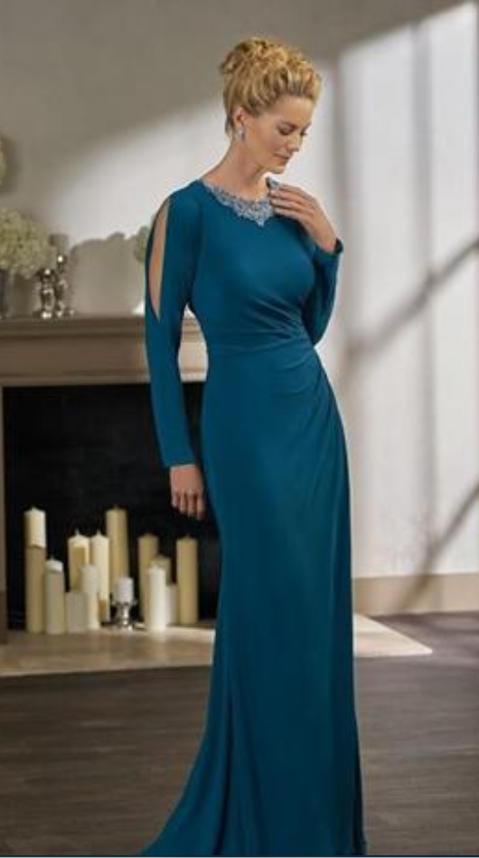 e1508f989e4 Elegant Turquoise Long Sleeve Mermaid Mother Of The Bride Dresses Plus Size  Pleat Beaded backless Formal