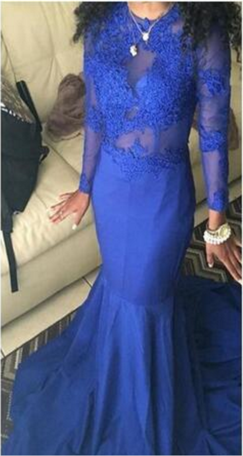 78c1918deb5 sexy plus size long sleeve prom dresses african royal blue prom dresses  formal evening gowns mermaid