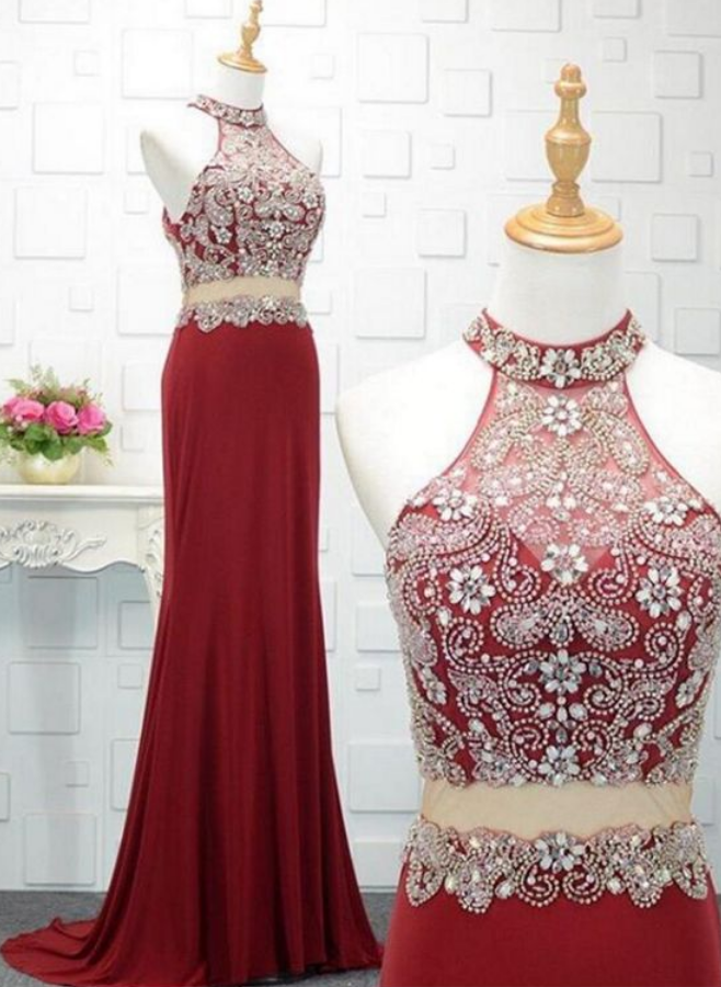 Charming Prom Dress, Sexy Two Piece Prom Dresses, Long Evening Dress, Formal Gown