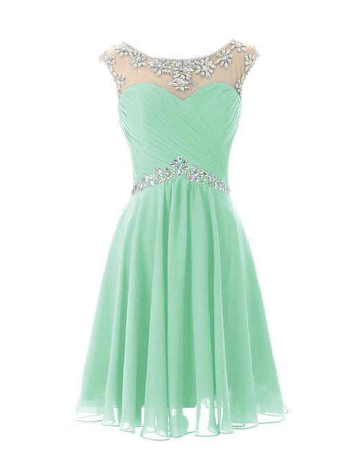 light green homecoming dress