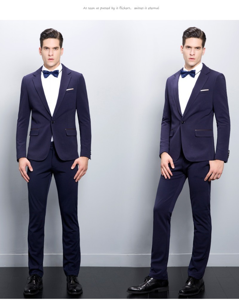 Men wedding (Jacket+Pants+Tie) Handsome Cheap 2017 New Formal Party Men Suits Groom Suits Casual Blazer Side Slit
