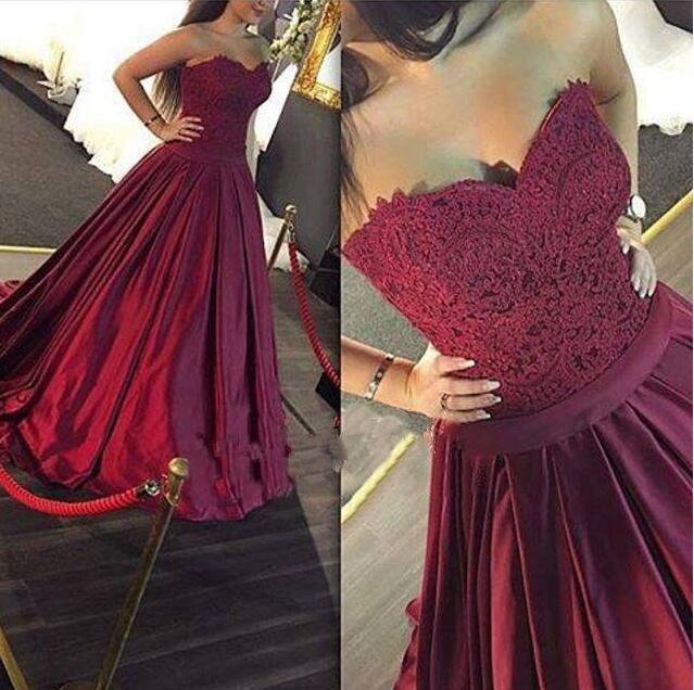 5a1b51f4fe9a Burgundy Prom Dress,Ball Gown Prom Dress,Lace Prom Gown,Princess Prom  Dresses,Sexy Evening Gowns,New Fashion Evening Gown,Wine Red Party Dress  For Teens