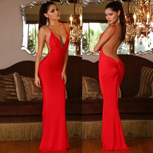 red sexy prom dresses