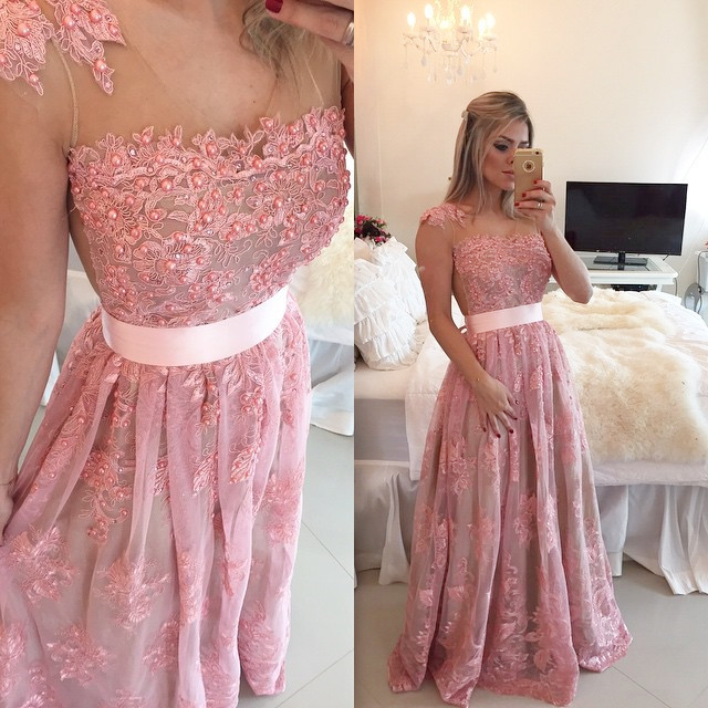 Prom Gown,pink Prom Dresses,Off The Shoulder Evening Gowns,Mermaid ...