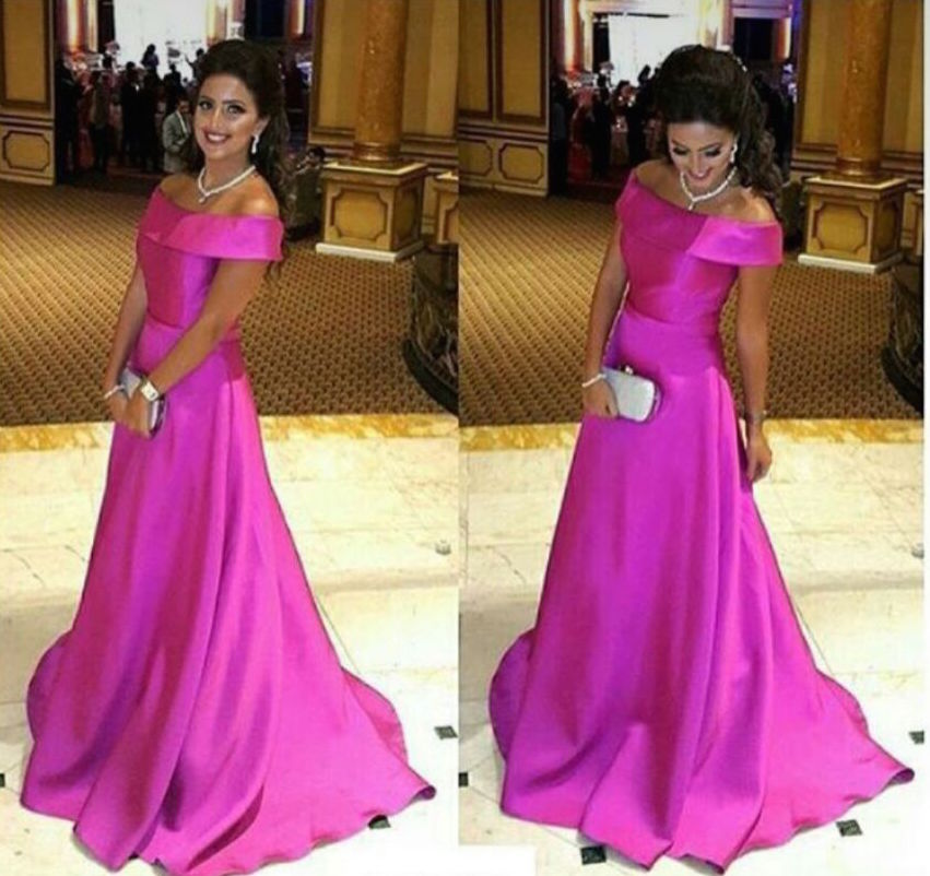 Prom Dresses,Prom Dress,Simple Off The Shoulder Pink Evening Gown A ...