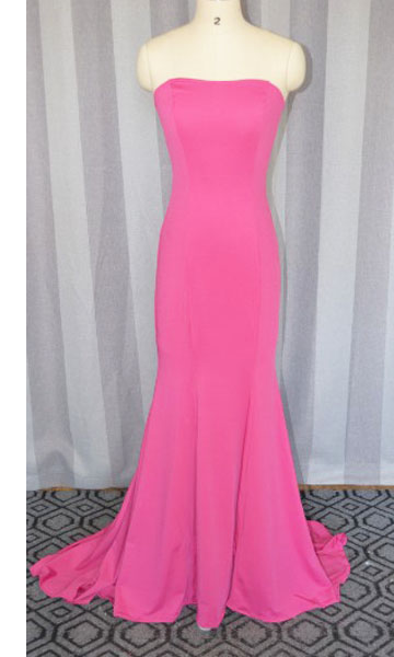 Hot Pink prom dress,Fashion Elegant sleeveless Long Formal Mermaid Jersey Prom Dress 2017 ,Long party Dress,Hot Pink evening dress
