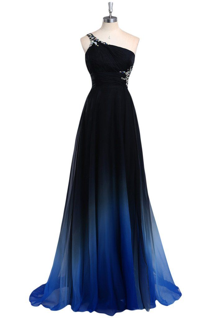 44cbf4c009b5 One Shoulder Sexy Prom Dress