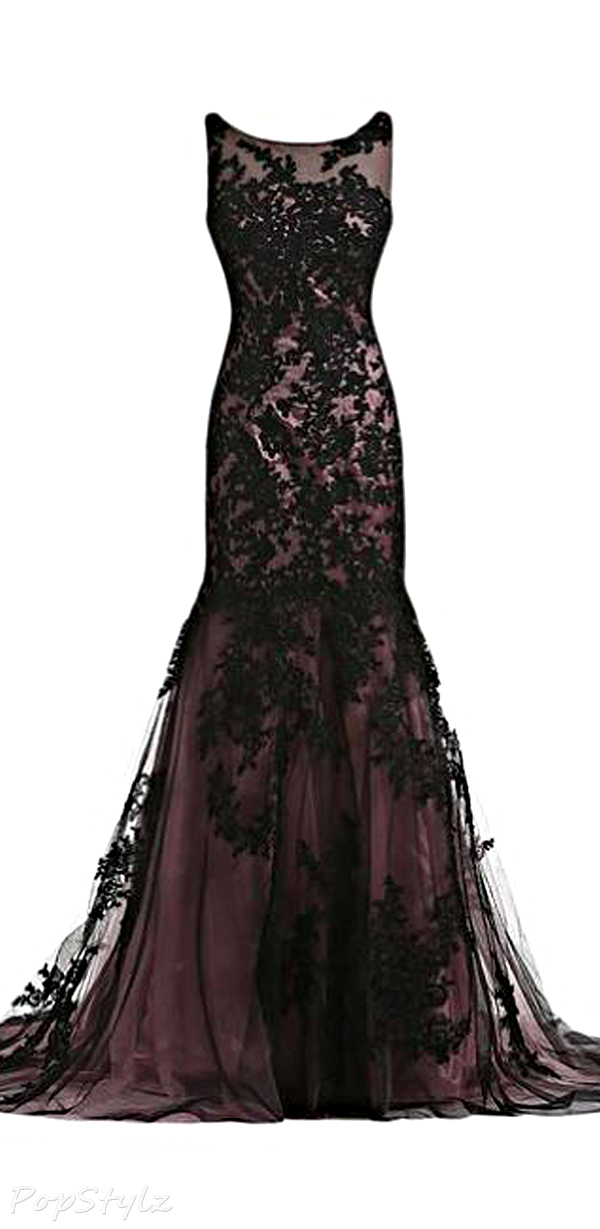 Black Prom Dresses,Mermaid Prom Dress,Lace Prom Dress,Lace Prom ...