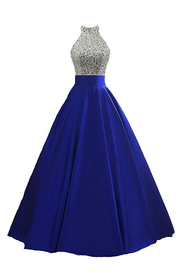 Real Sample Sexy Crystals Prom Dresses Royal blue Evening Party Gowns Sweep Train Sexy Custom Made Hottest