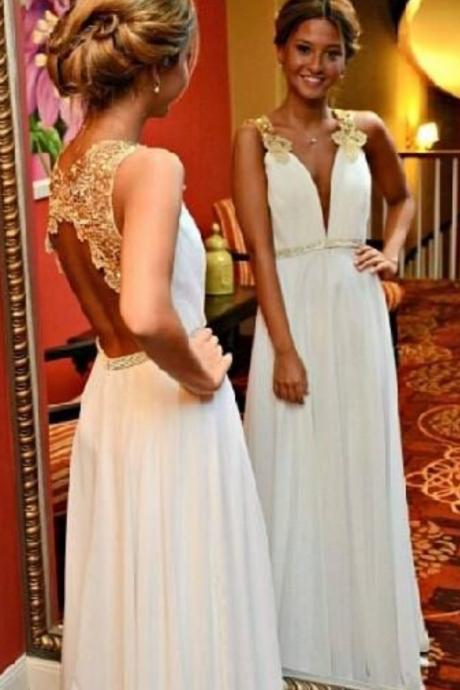 Long Prom Dress ,Lace Straps ,Hollow Back Prom Dress ,Elegant Women Dress,Party Dress