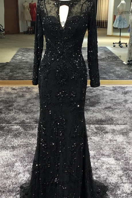 2018 New Embroidery Mermaid Evening Dress See Through Top Evening Gowns Sexy Party Dress Formal Dresses Plus Size Summer Style