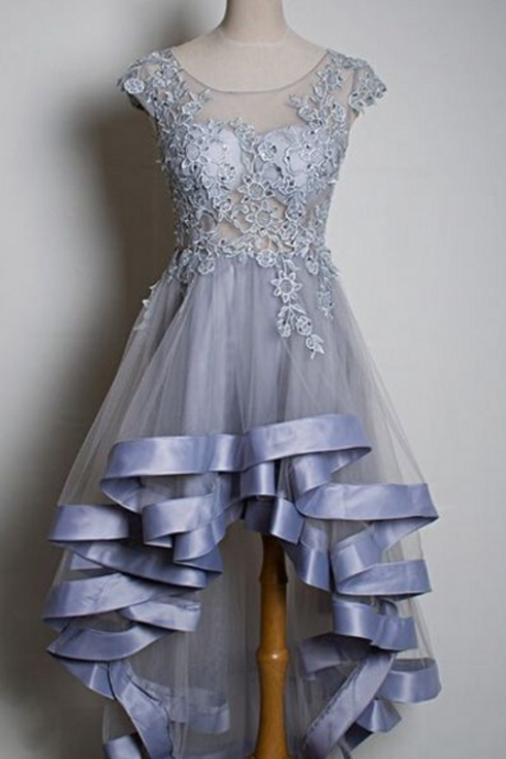 High Low Lace Layers Homecoming Dress Party Dresses,Perfect Homecoming Dresses,