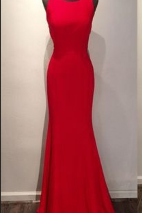 Simple Red Prom Dress on Luulla