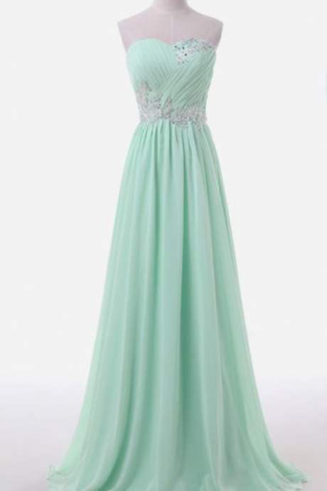 Strapless Sweetheart Ruched Lace Appliqués Floor-Length Prom Dress, Evening Dress