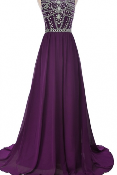 Luxury crystal chiffon dress with a long dress with a long dress for a beautiful crystal party dress at the start of the evening dress