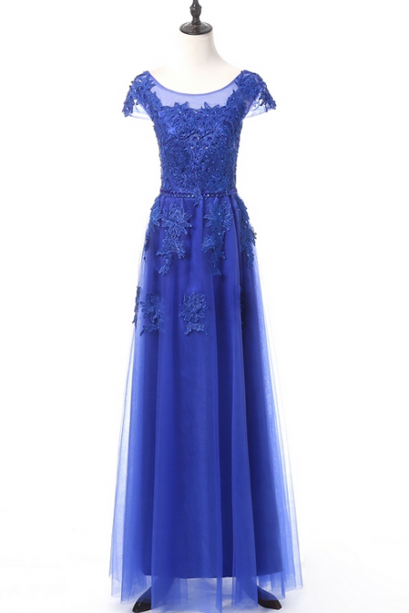 Cheap blue dress formal long bow elegant engagement party bridal gown gown evening gown