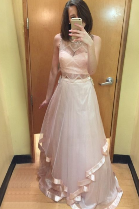pink prom dresses, long party dresses, cheap prom dresses party dresses with beading