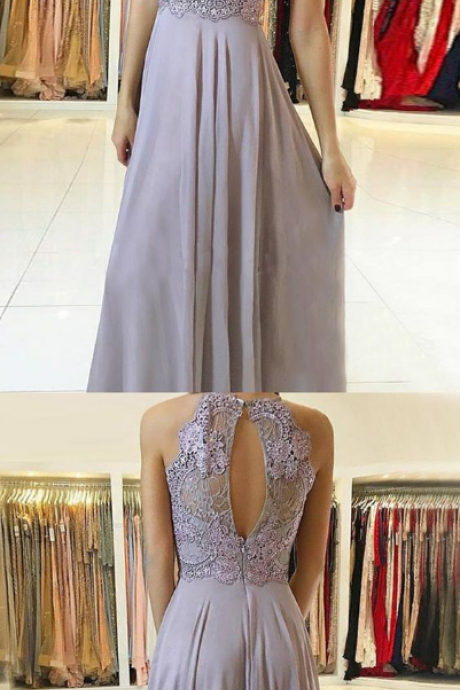 Charming Prom Dress, Sexy Sleeveless Prom Dresses, Evening Party Dress, Appliques Evening Dress