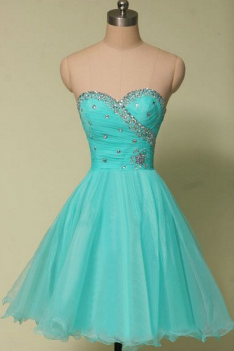 Cute Homecoming Dress,Tulle Homecoming Dress,Beading Graduation Dress,Sweetheart Short Prom Dress,Short dress