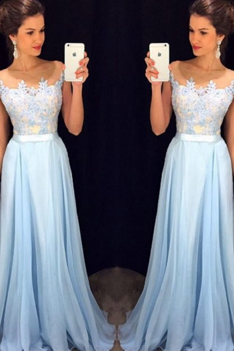 High Quality Prom Dress,Chiffon Prom Dress,A-Line Prom Dress,Charming Prom Dress,Appliques Prom Dress