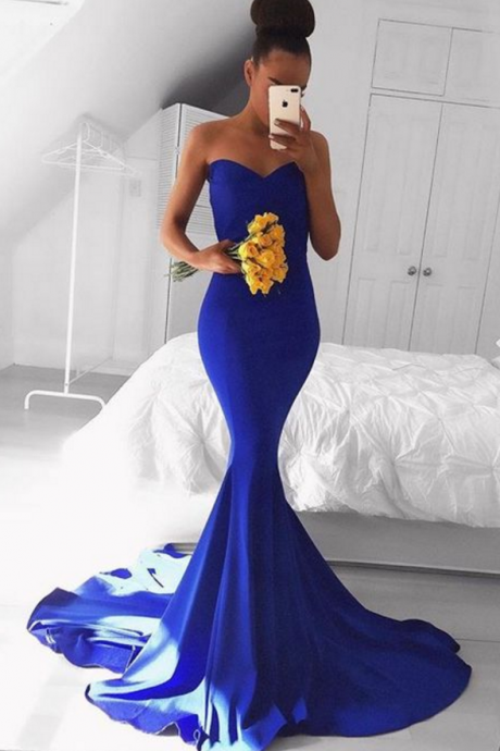Prom Dresses, Sexy Party Prom Dress, Royal Blue Prom Dresses, Cheap Formal Prom Dresses
