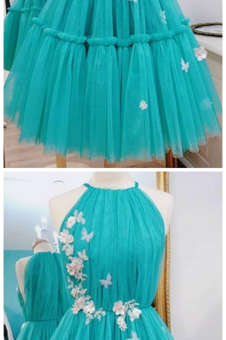 Green Sleeveless A Line Cheap Prom Dresses Short Homecoming Dresses