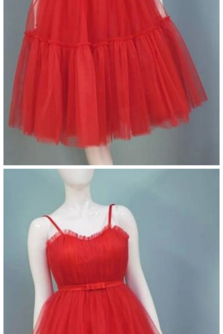 Red Sweetheart Sleeveless Short Prom Dresses Cheap Homecoming Dresses