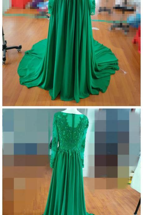 Evening Dresses, Applique Beading Red Dress,High Neck Cap Sleeves Dress,Illusion Back Long Prom Dress, Party Formal Gown