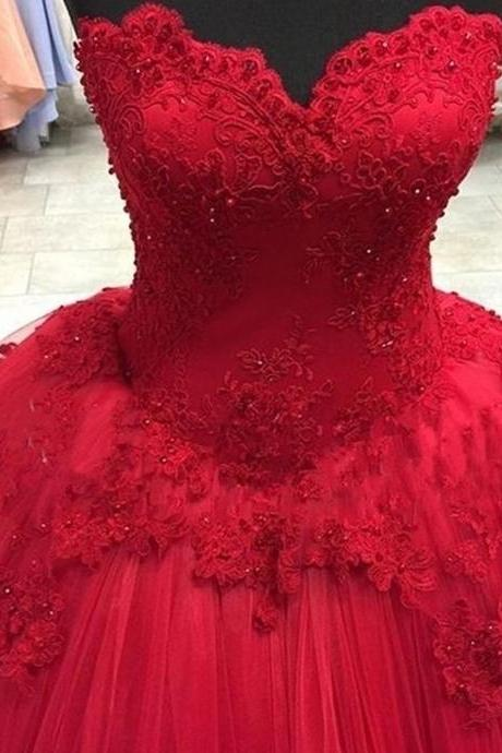 Spark Queen Tulle Ball Gown Prom Dress with Flowers, Formal Dress